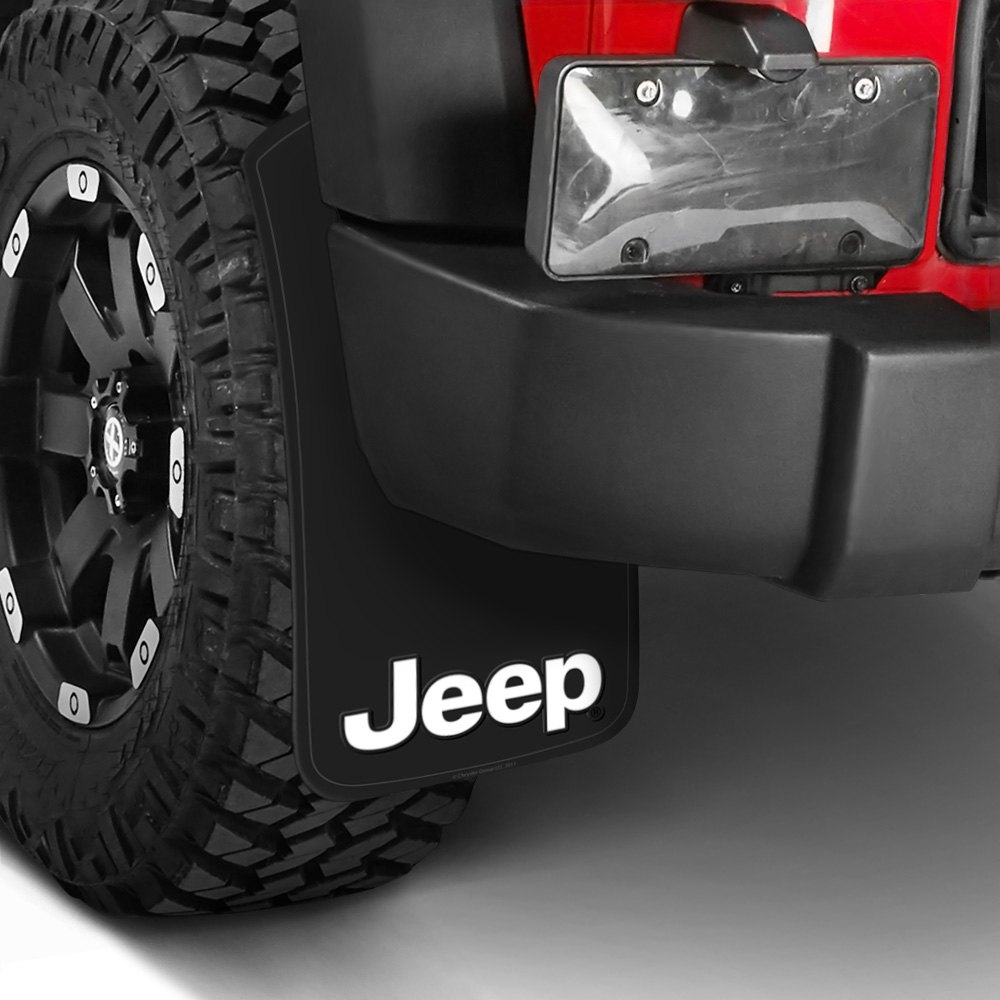 plasticolor easy fit mud flaps with jeep logo. Black Bedroom Furniture Sets. Home Design Ideas
