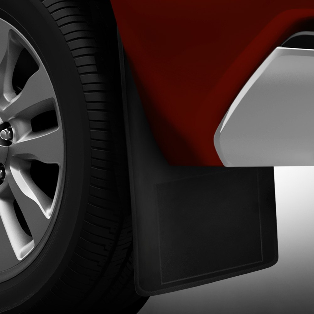 Semi Truck Mud Flaps >> Plasticolor® 000331R01 - Black Mud Flaps w/o Logo
