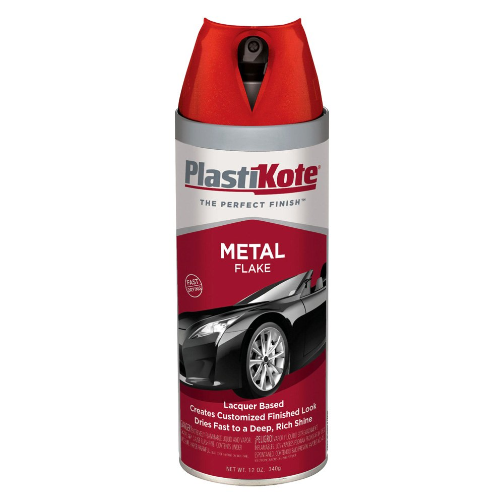 Plastikote 12 oz spray can metal flake paint Black metal spray paint