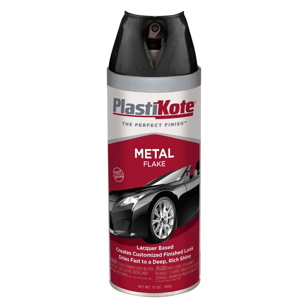 Plastikote 320 12 oz black spray can metal flake paint Black metal spray paint