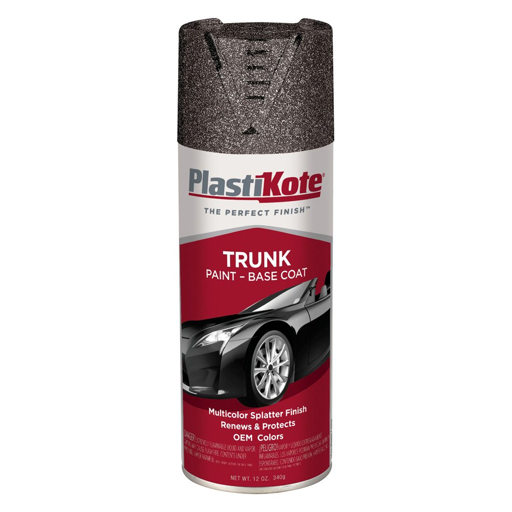 plastikote 12 oz black gray spray can trunk coat paint. Black Bedroom Furniture Sets. Home Design Ideas