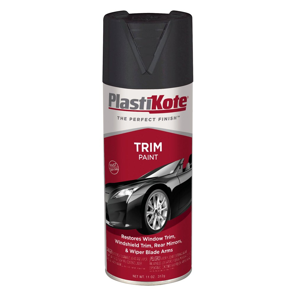 Plastikote 611 11 oz black spray can trim paint Black spray paint