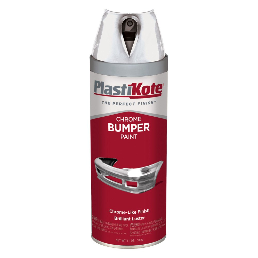 Plastikote 615 12 oz chrome spray can bumper paint Paint with spray can