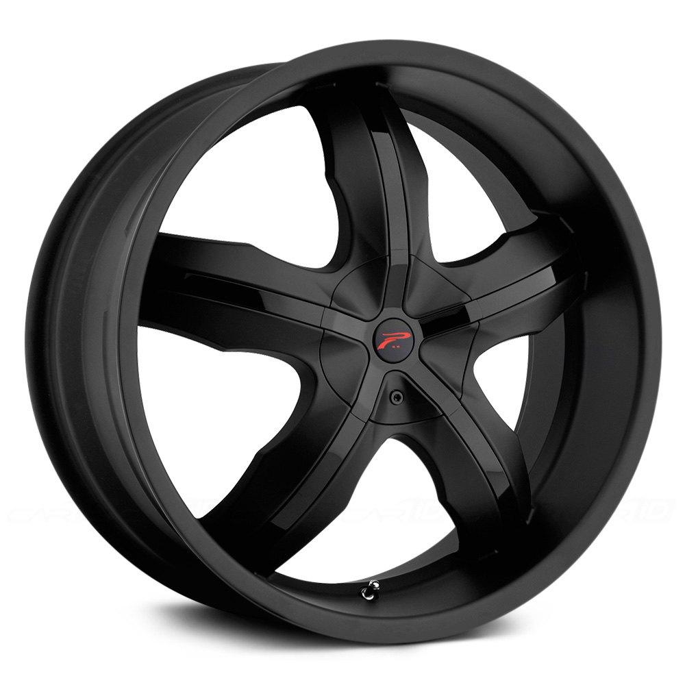 PLATINUM® 212B WIDOW Wheels - Matte Black with Gloss Black Inserts Rims