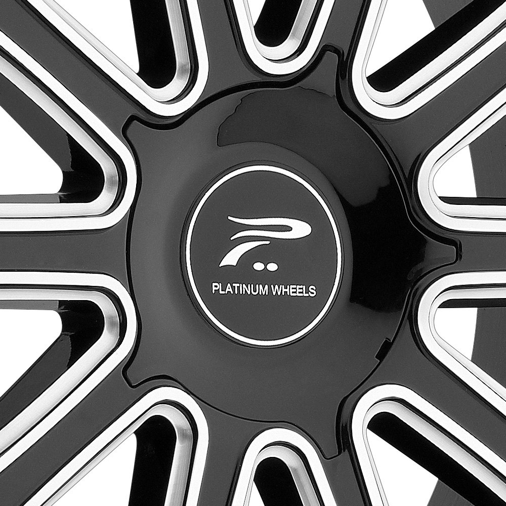 Platinum 174 410bm Divine Wheels Gloss Black With Diamond