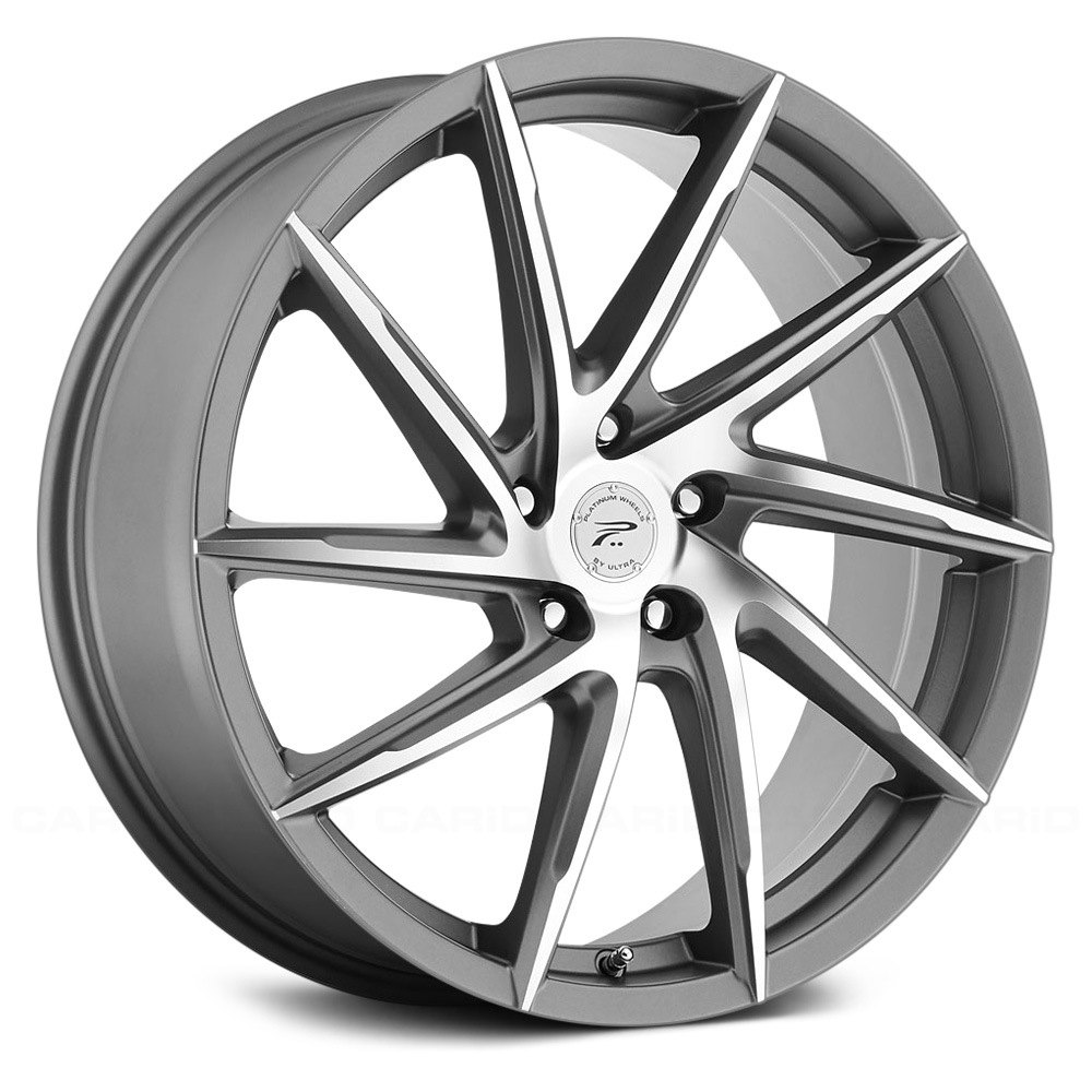 18x8 Platinum Wheels 40 5x114 3 72 62 433gn Hawk Rims
