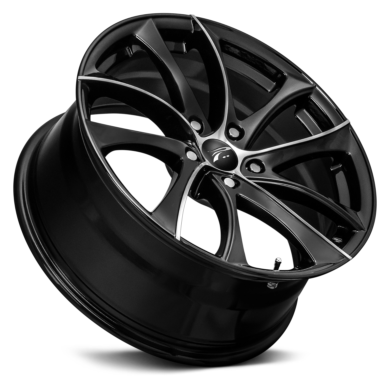 Platinum 174 438u Gyro Wheels Gloss Black With Diamond Cut