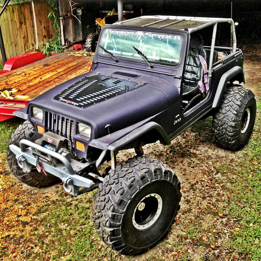 Poison Spyder Customs 174 Jeep Wrangler 1987 1995 Hood Louver