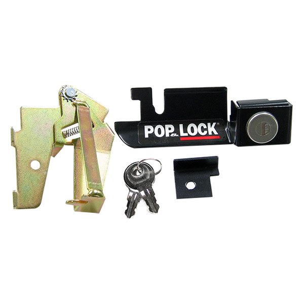 Works only with factory plastic handle Pop /& Lock PL2310C Chrome Manual Tailgate Lock for Mazda//Ford