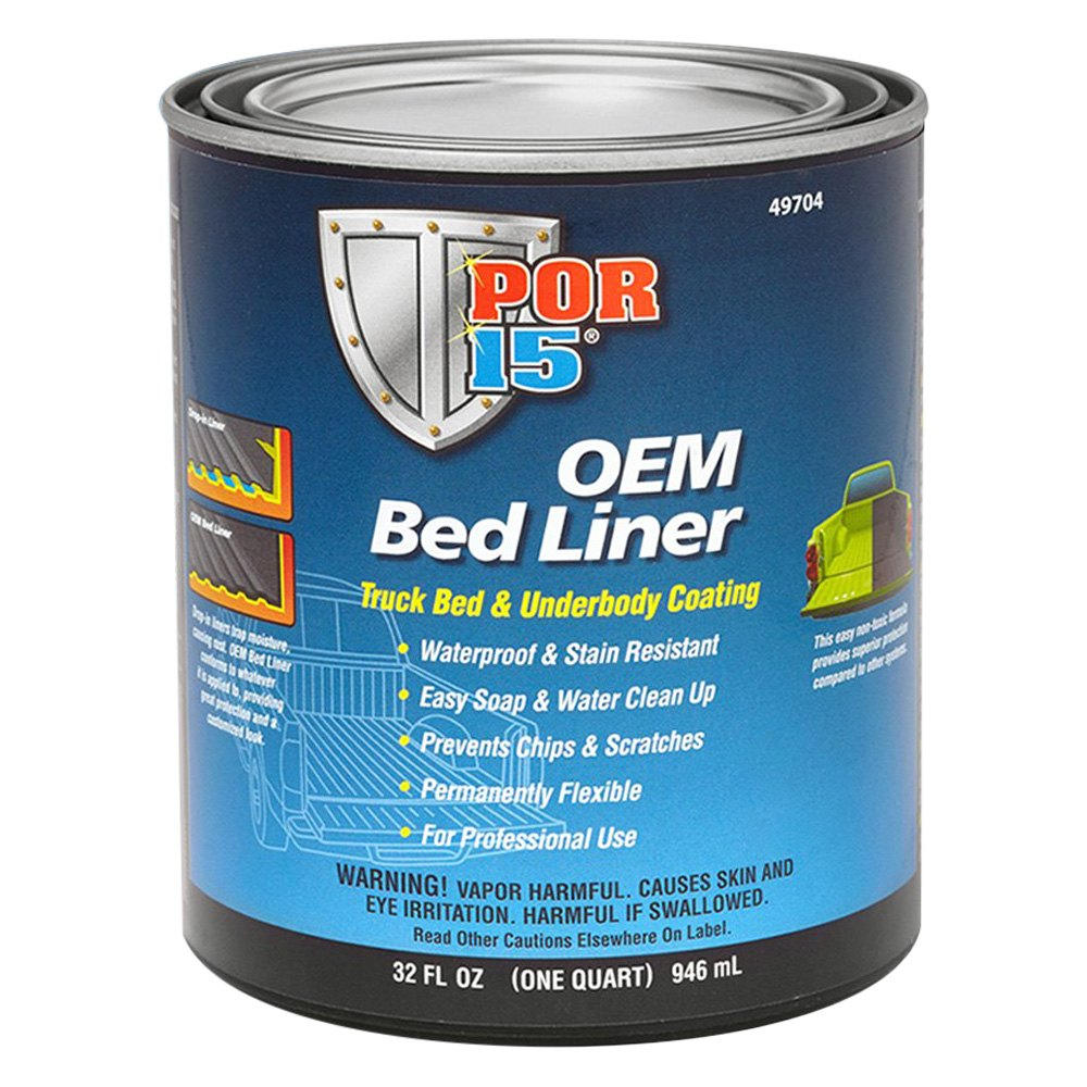 por 15 174 49704 oem bed liner 1qt truck bed coating