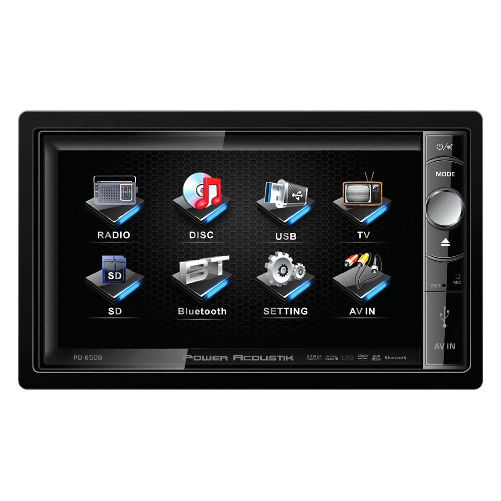 Power Acoustik PD 651B Double-DIN In-Dash LCD