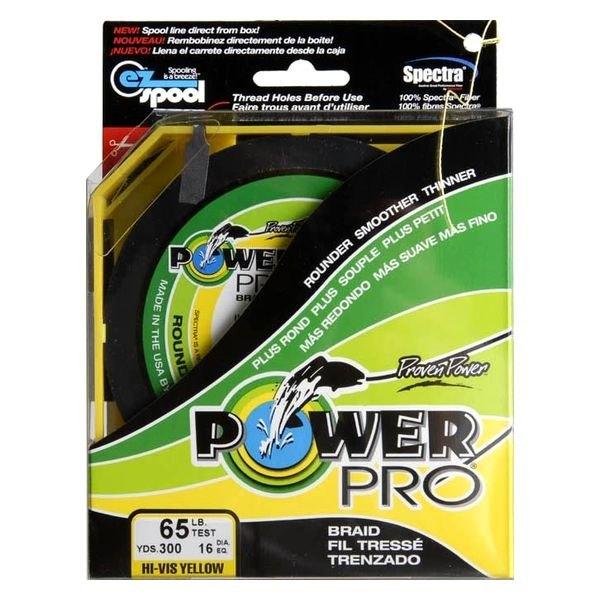 Power pro 21100650300y 65lb 300 yard braided fishing for Powerpro fishing line