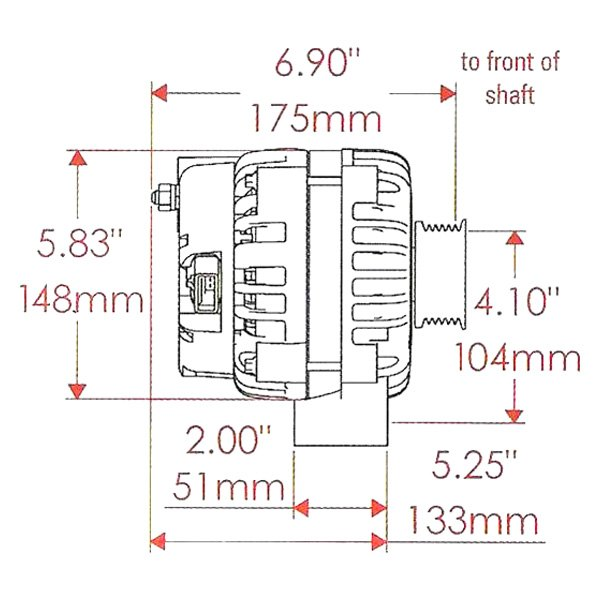 Powermaster® 58302 Ad 244 Alternator GM Alternator Plug Ad244 Alternator Schematic