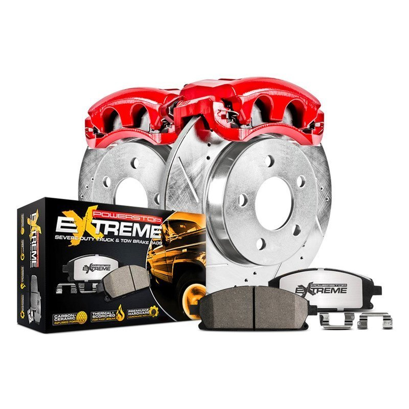 Power Stop K1919-36 Front /& Rear Z36 Truck and Tow Brake Kit