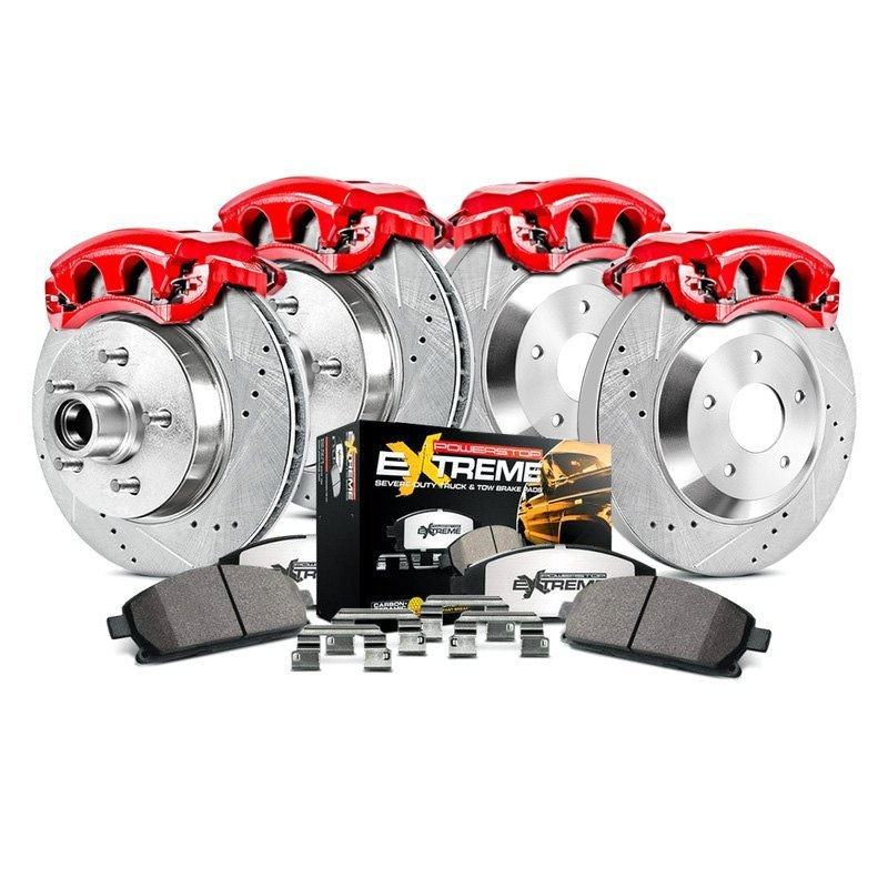 Power Stop Brakes >> Power Stop Kc1915 36 1 Click Extreme Z36 Truck And Tow Drilled And Slotted Front And Rear Brake Kit With Calipers