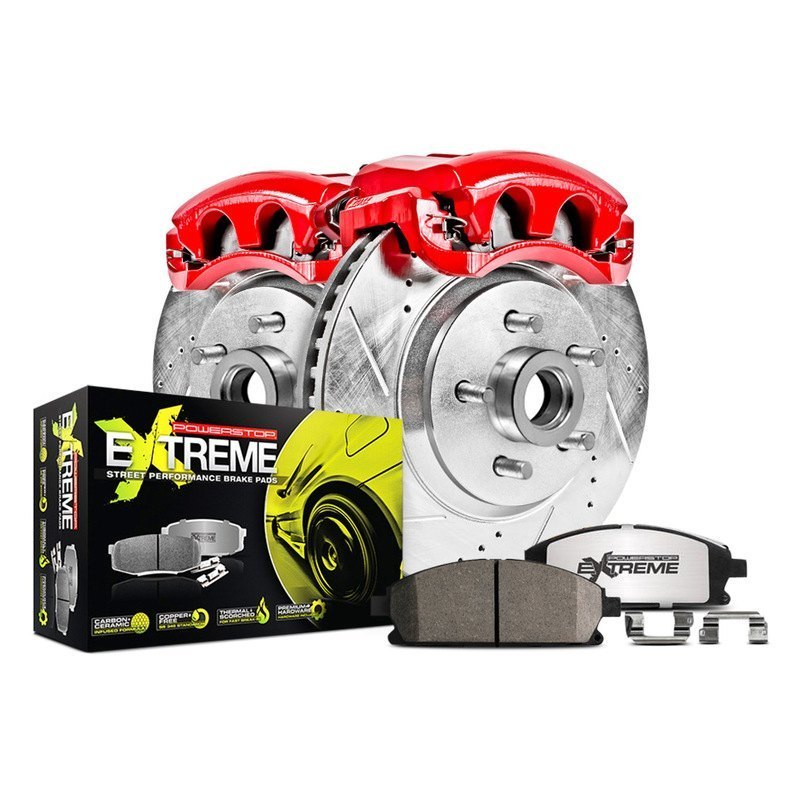 Power Stop Brakes >> Power Stop 1 Click Street Warrior Z26 Drilled And Slotted Brake Kit With Calipers