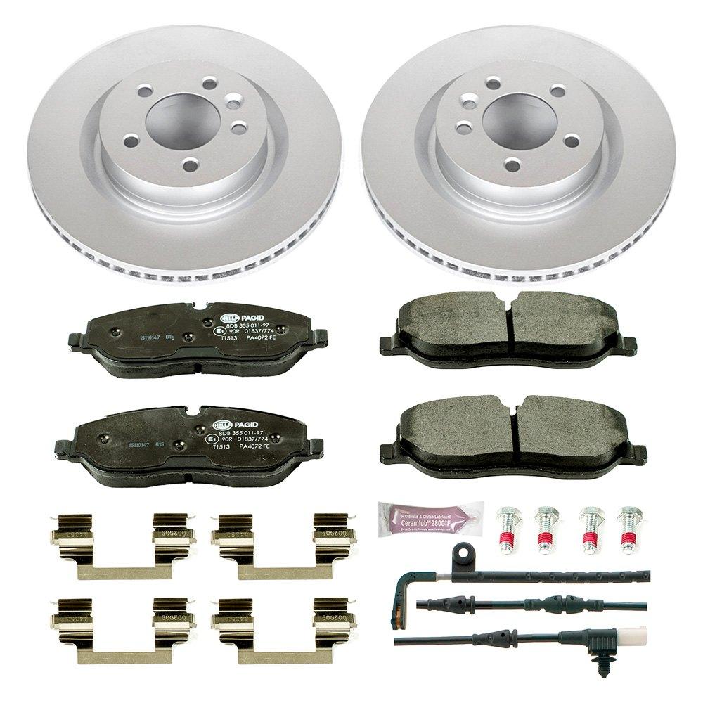 Land Rover Rear Brake Rotor Disc Pads W Sensor Range 03: For Land Rover Range Rover Sport 06-09 Euro-Stop Premium