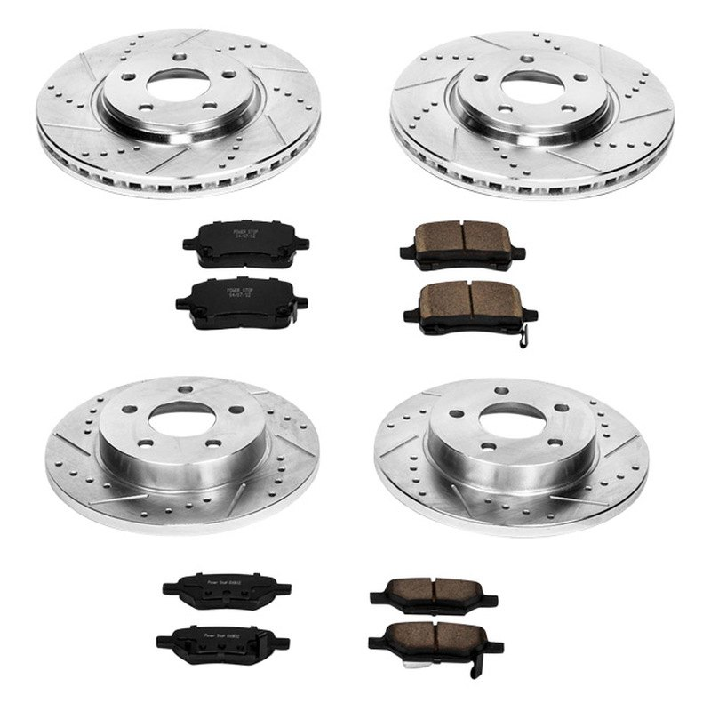 Powerstop K1612 Solid Rear Brake Kit Drilled Amp Slotted