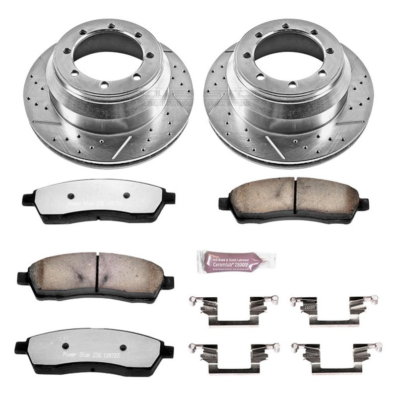 Brake System Power Stop K1889-36 Z36 Severe-Duty Truck And Tow 1-Click Brake Kit Replacement Parts