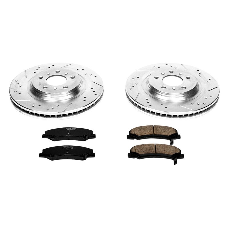 Powerstop K4654 Vented Front Brake Kit Drilled Amp Slotted