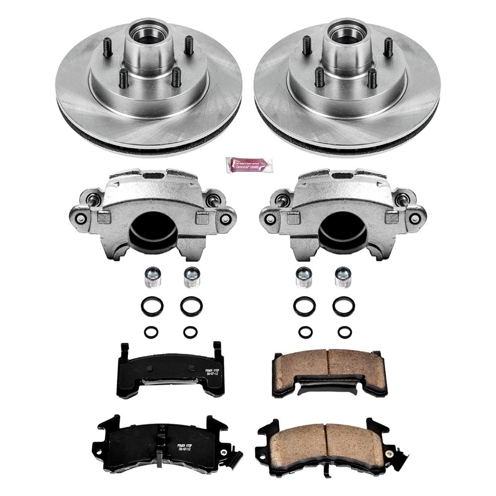 Power Stop Chevy El Camino 1985 1 Click Autospecialty Oe Replacement Plain Front Brake Kit