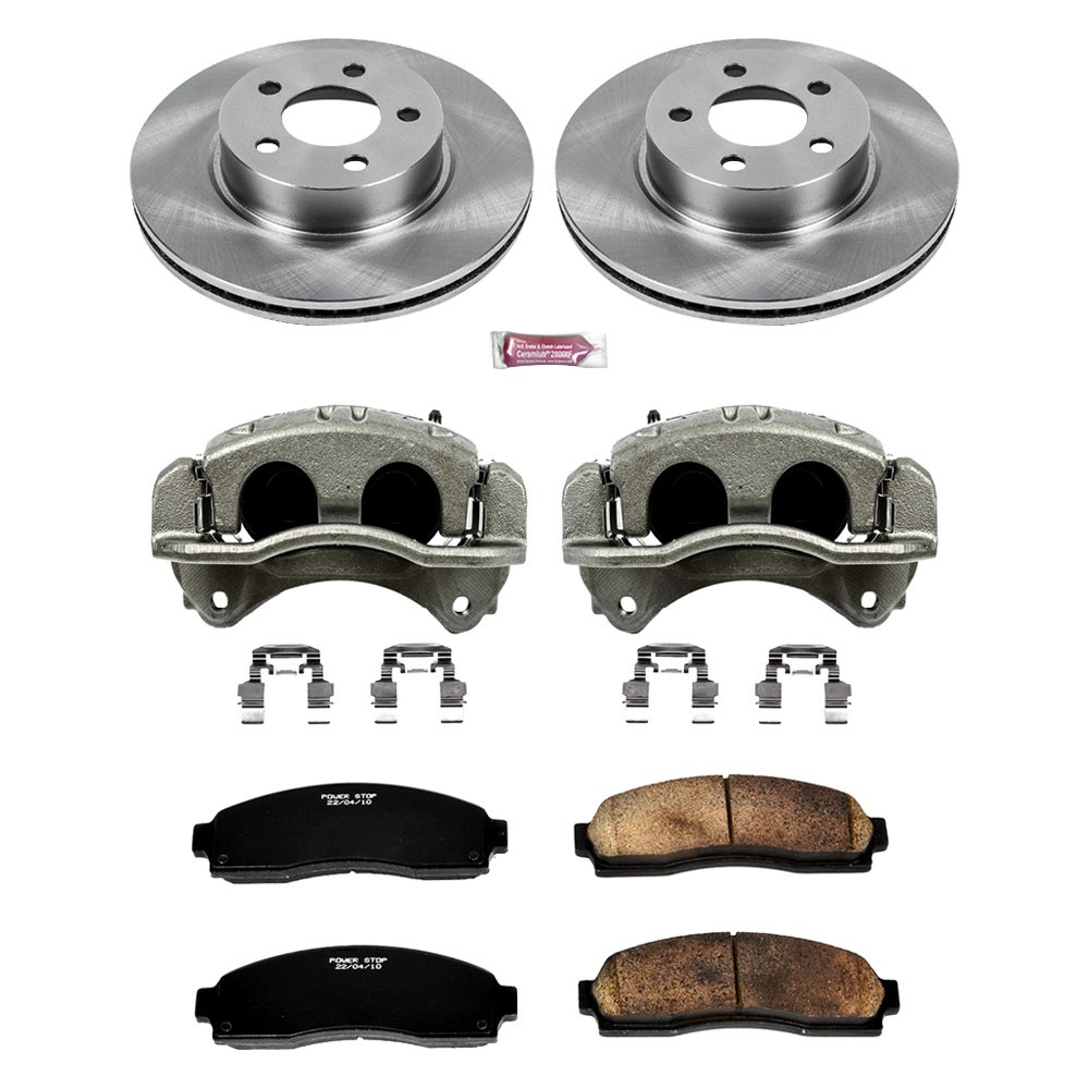 power stop ford ranger 2010 1 click autospecialty oe replacement plain brake kit with calipers. Black Bedroom Furniture Sets. Home Design Ideas