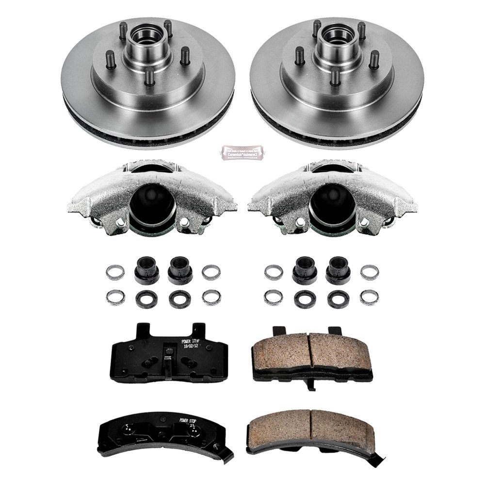 Power Stop Chevy Tahoe 1998 1999 1 Click Autospecialty Oe Replacement Plain Front Brake Kit