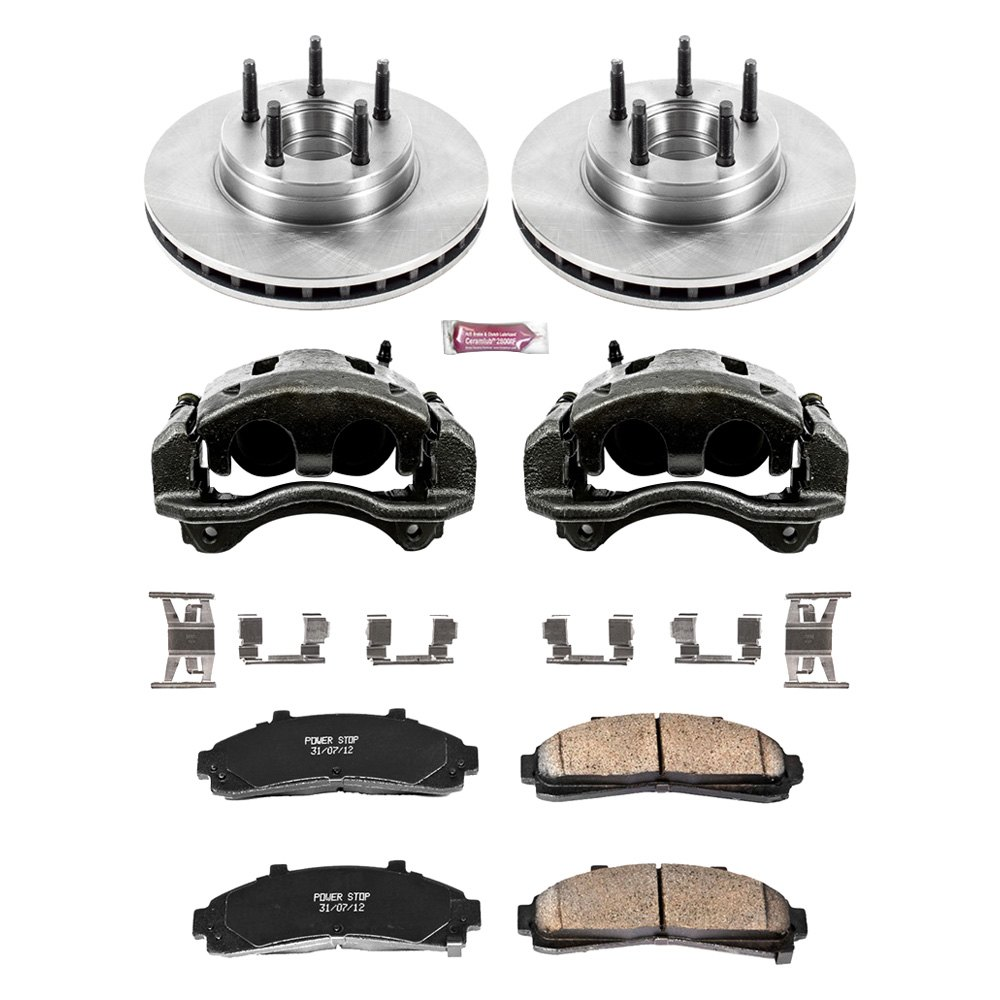 power stop ford ranger 1996 1 click autospecialty oe replacement plain brake kit with calipers. Black Bedroom Furniture Sets. Home Design Ideas