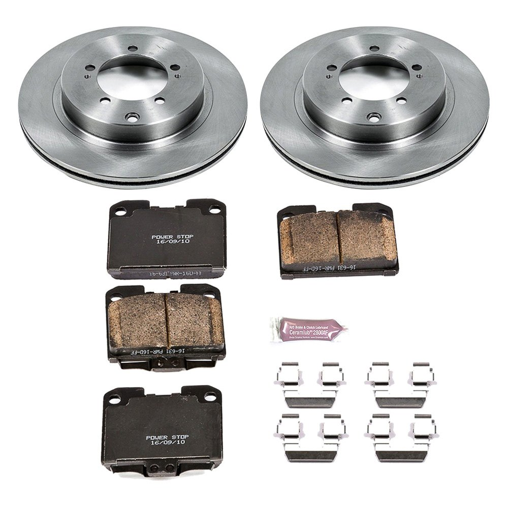 Power Stop® - Mitsubishi 3000GT 1997-1998 1-Click Autospecialty OE Replacement Plain Brake Kit