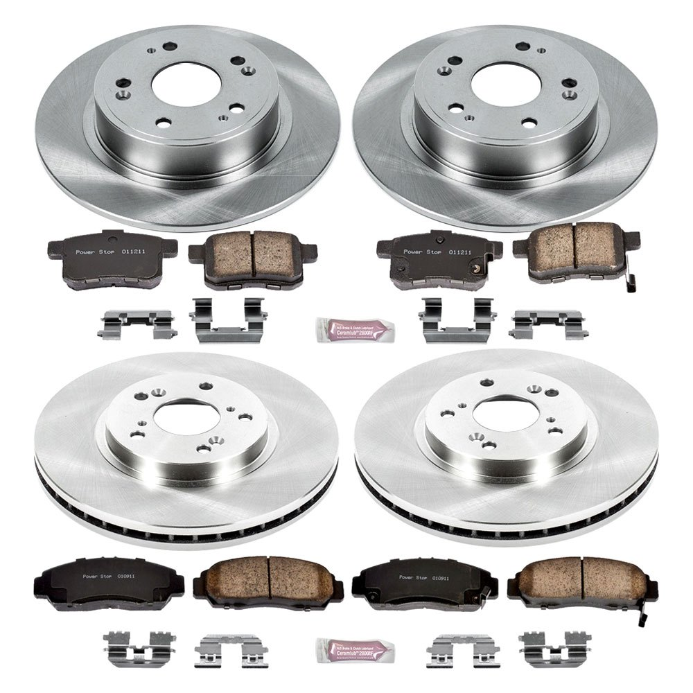 for honda accord 08 10 brake kit k2742 1 click autospecialty replacement plain 792088962119 ebay. Black Bedroom Furniture Sets. Home Design Ideas