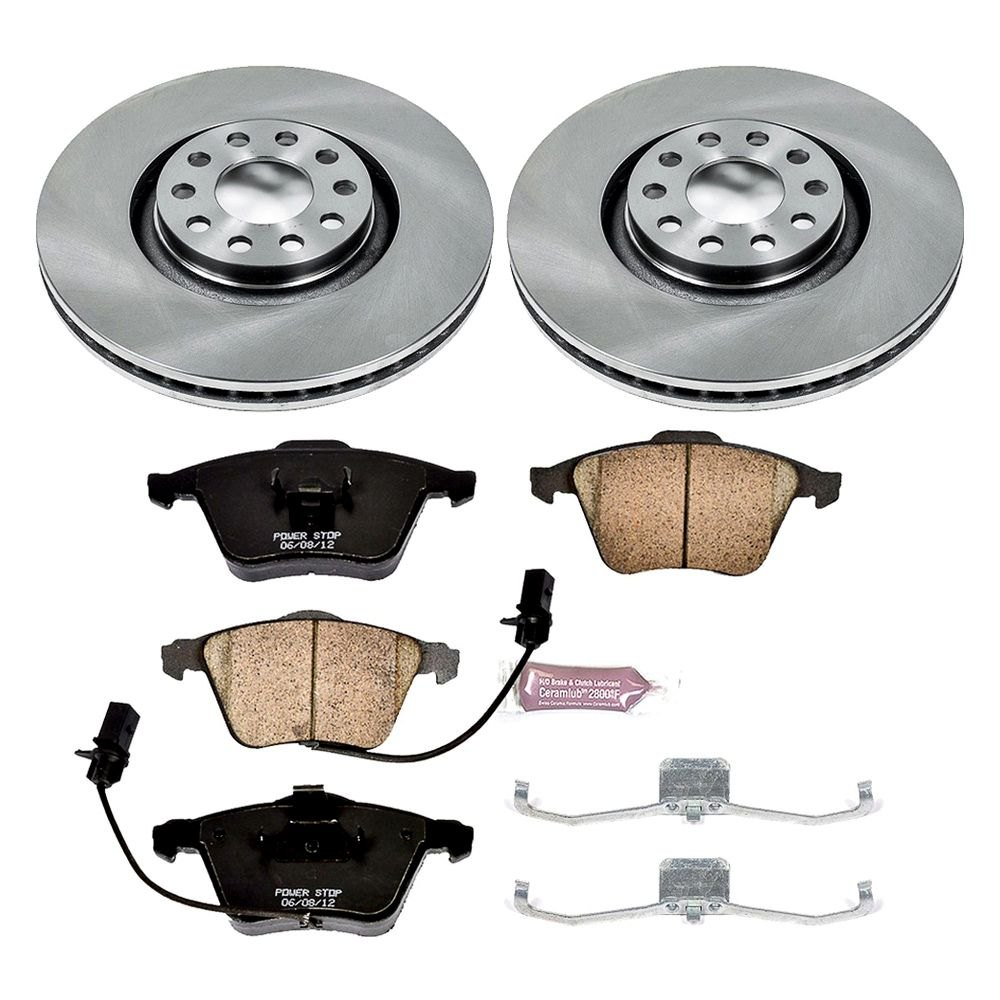 power stop audi a4 2007 2008 1 click autospecialty oe replacement plain brake kit. Black Bedroom Furniture Sets. Home Design Ideas