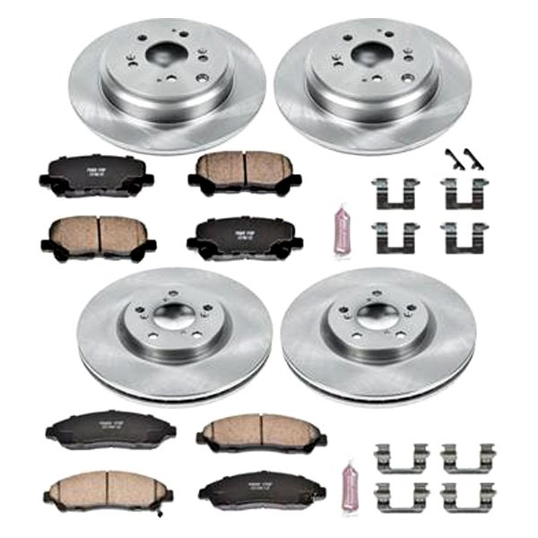 Ceramic Pads and Brake Calipers Power Stop KCOE5381 Autospecialty Rear Kit Rotors