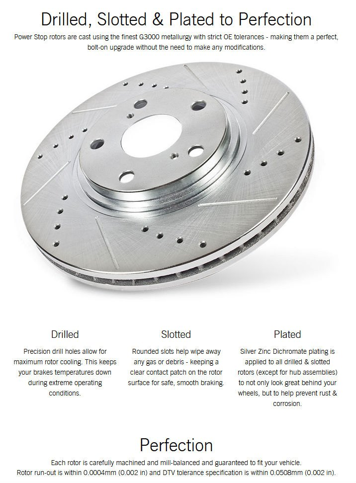 EBR464//465XPR Power Stop Drilled and Slotted Rotor