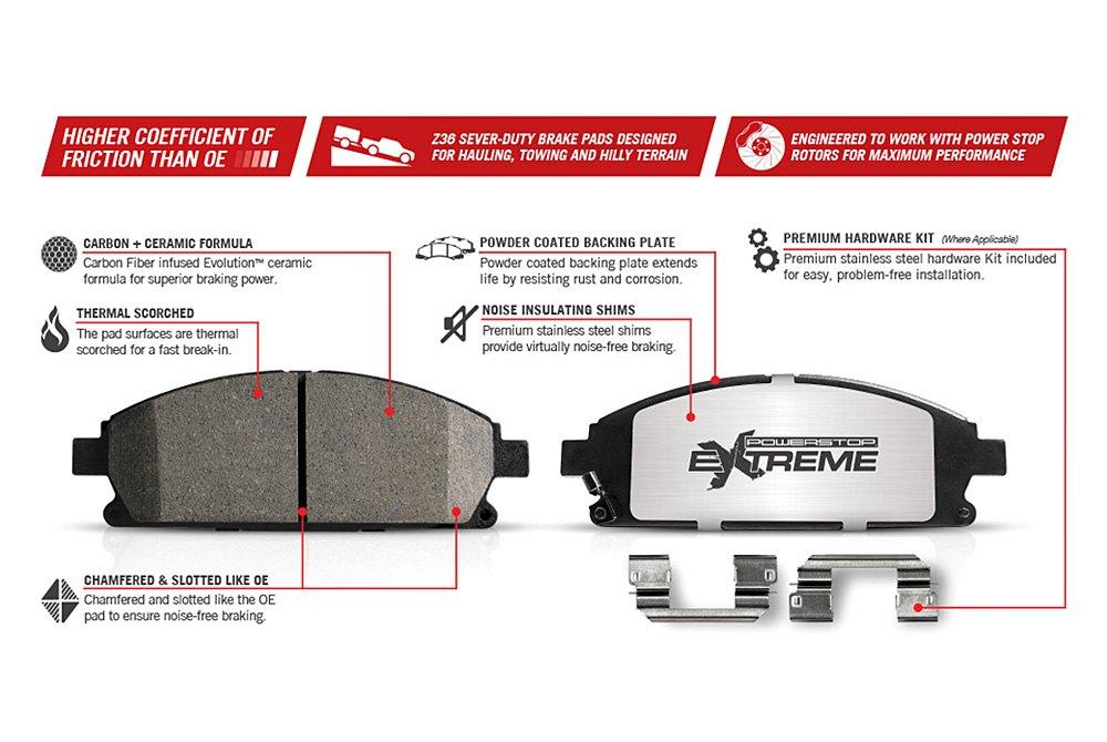 For Chevy Silverado 1500 07-18 Brake Kit Power Stop 1-Click Extreme Z36 Truck /&