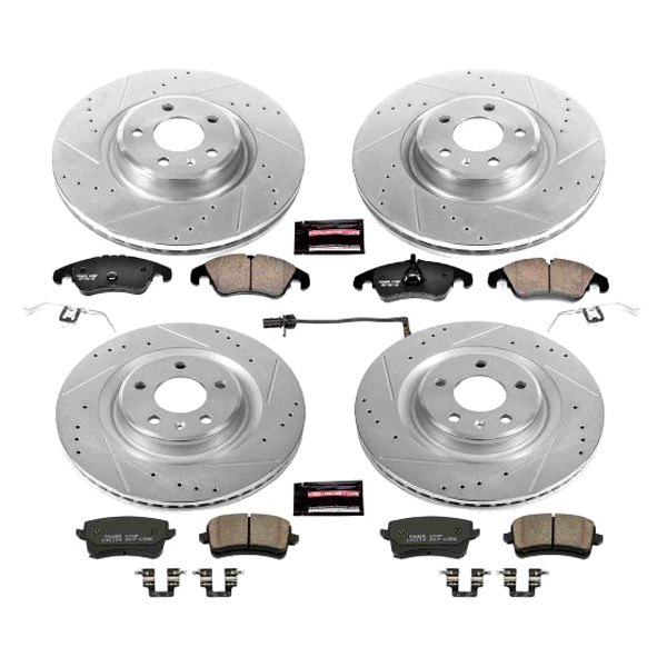 For Chevrolet Silverado 2500 Front Rear  Drill Slot Brake Rotors+Ceramic Pads