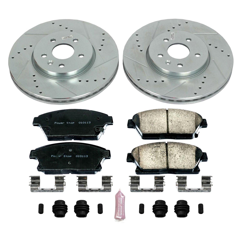 Power Stop K1319 Front//Rear Z23 Evolution 1-Click Brake Kit for Thunderbird