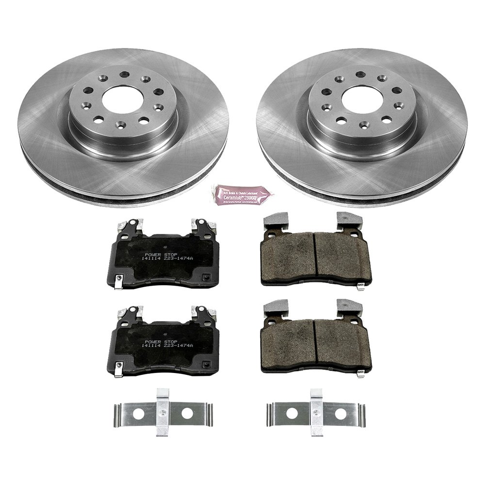 Power Stop KOE7234 Front and Rear Stock Replacement Brake Kit