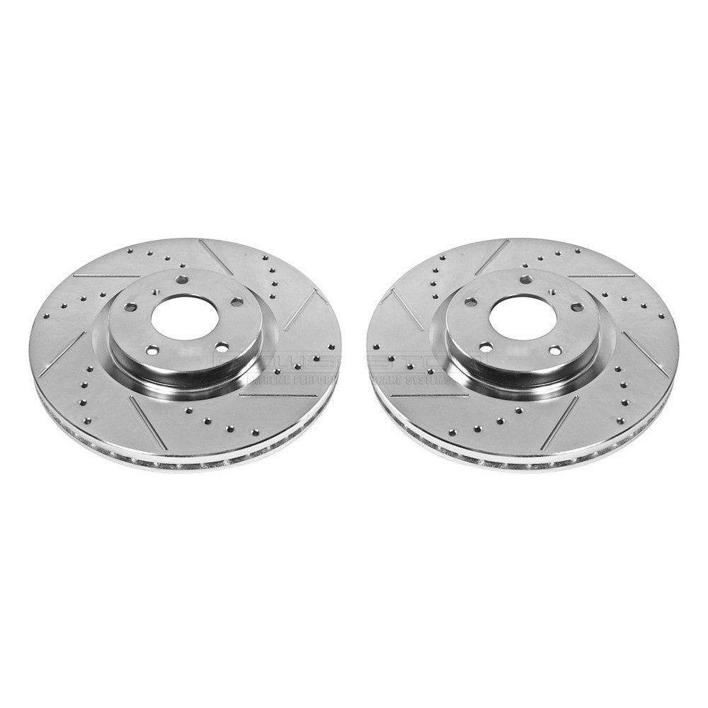 Power Stop JBR1151XPR Rear Evolution Drilled /& Slotted Rotor Pair