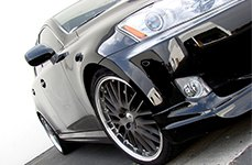 PRIVAT® - NETZ Black with Machined Lip on Lexus IS