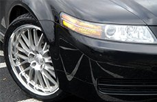 PRIVAT® - NETZ Silver with Machined Lip on Acura TL