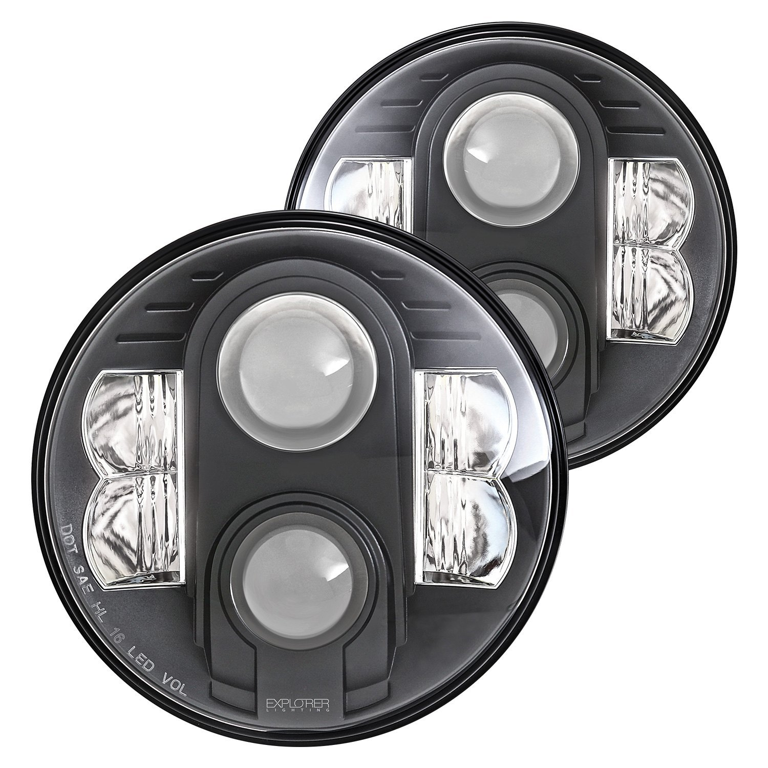 headlights for inch round honeycomb tj lj jk wrangler cj pair ralu headlight black jeep conversion products led