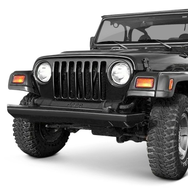 jeep wrangler 1997 2006 rock crawler stubby black front hd bumper. Cars Review. Best American Auto & Cars Review