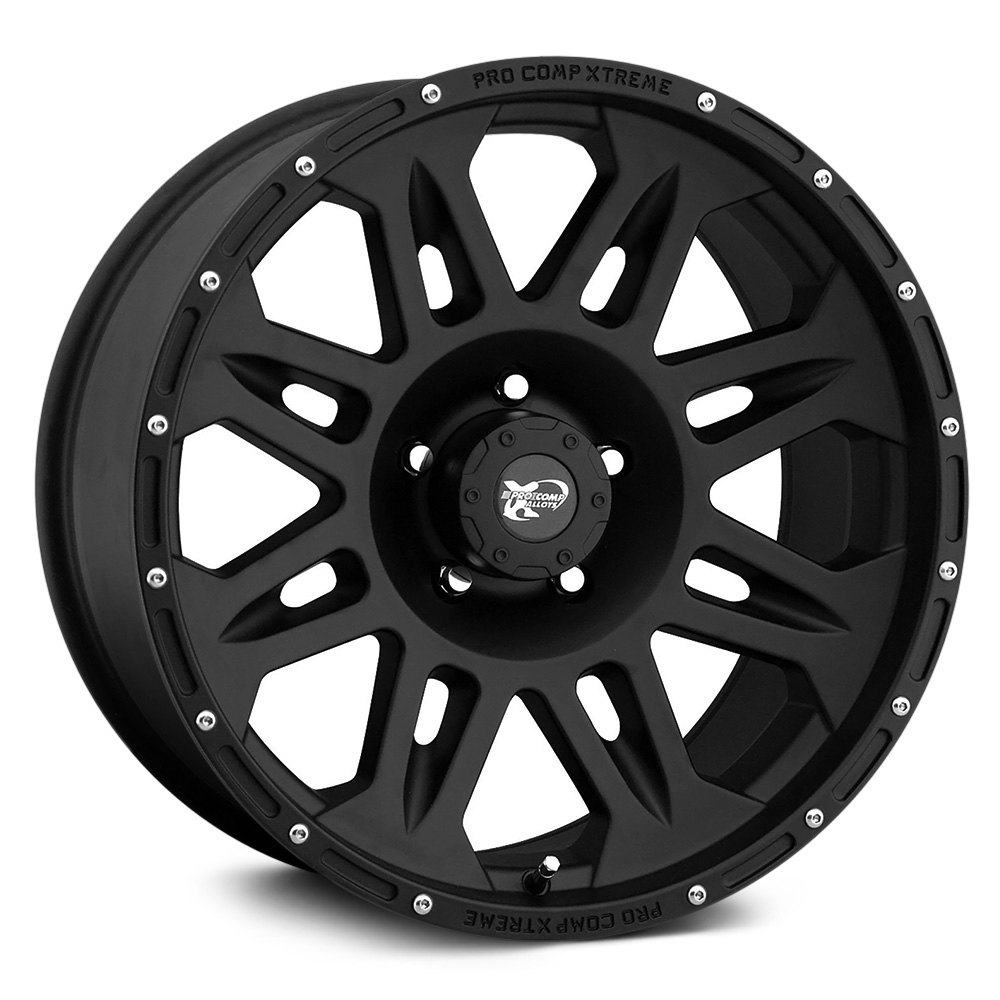 Pro Comp 174 05 Wheels Flat Black Rims