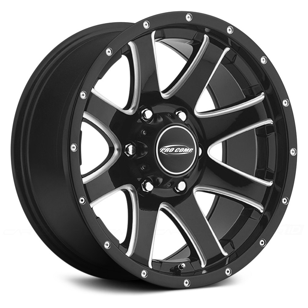 Pro Comp 174 86 Series Reflex Wheels Alloy Gloss Black With