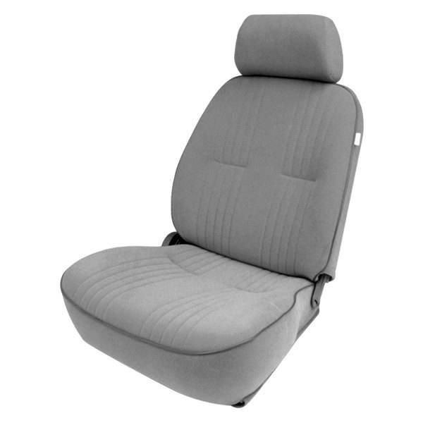 procar 80 1300 62l pro 90 driver side gray velour sport seat with headrest. Black Bedroom Furniture Sets. Home Design Ideas