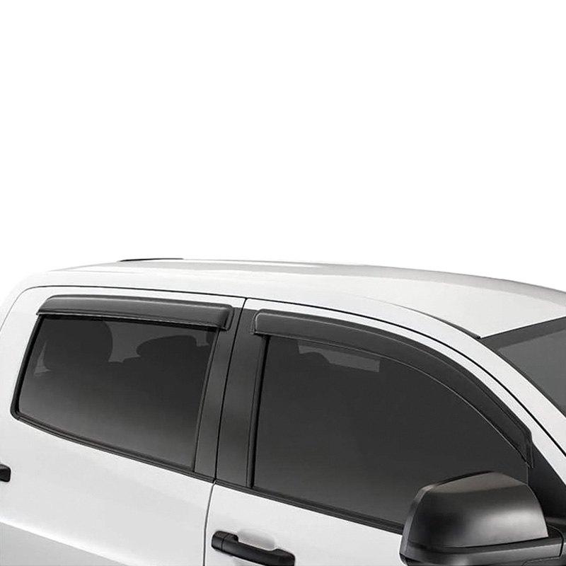For Chevy Silverado 1500 19-20 Window Deflectors Tape-On ... |White Silverado Window Deflectors