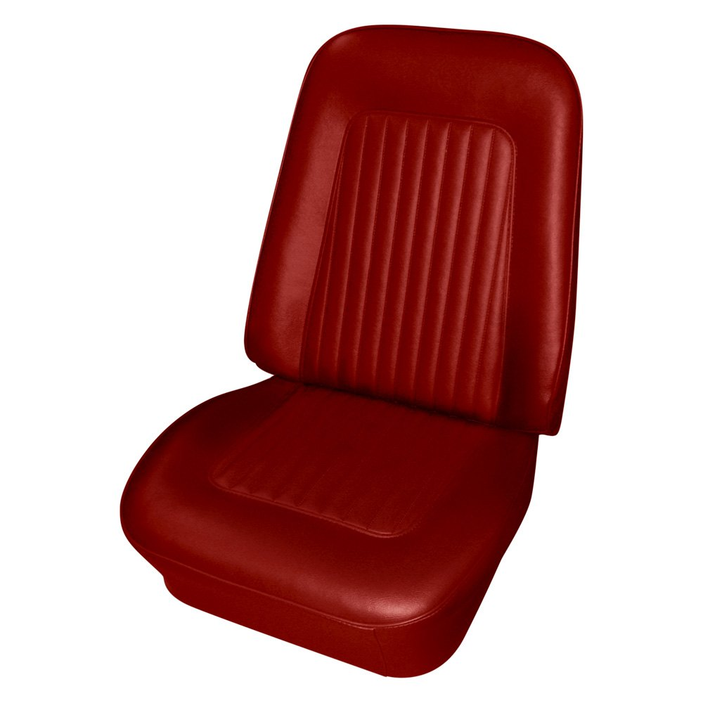 PUI Interiors®   Front Red Seat Covers