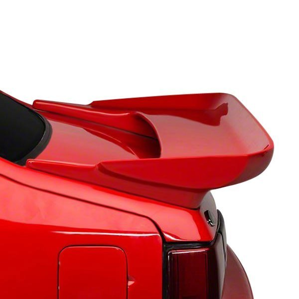 For Ford Mustang 83-93 Factory Saleen Style Fiberglass Rear Spoiler Unpainted