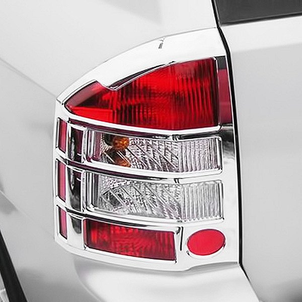 putco 401269 jeep compass 2007 2010 chrome tail light bezels. Cars Review. Best American Auto & Cars Review
