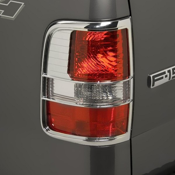 putco ford f 150 2005 2008 chrome tail light bezels. Black Bedroom Furniture Sets. Home Design Ideas